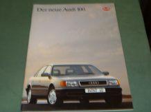"AUDI ""Der neue Audi 100"" (c.1990) German text  Sales Brochure"